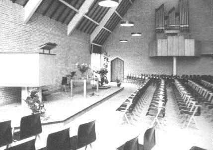 Het interieur van de nieuwe kerk